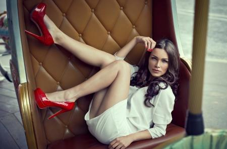 seducing: Bella donna seducente Archivio Fotografico