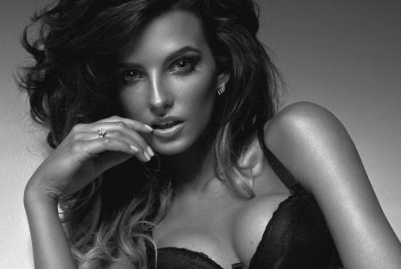 sensual: Retrato da menina bonita da forma com j Banco de Imagens