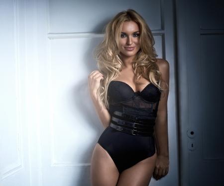 Young beautiful smiling blonde woman