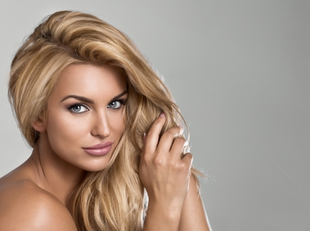 nude blonde woman: Blond beauty Stock Photo