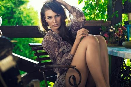 Sexy mulher ao ar livre