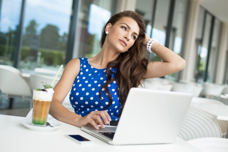 Beautiful business woman during the rest Stock Photo - 21825281