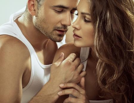 femme sexe: Portrait d'un couple sensuel Banque d'images