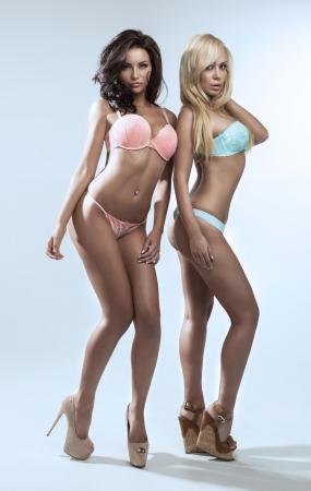 İki seksi bayan Stock Photo