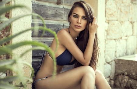 woman spa: Sensual woman in swimsuit