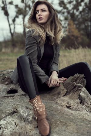 sexy fashion:  Young sexy fashion model Stock Photo