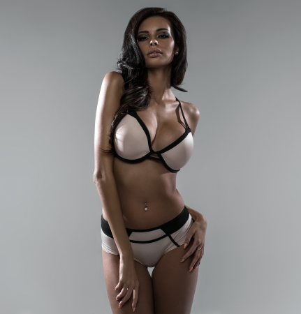 Latin beauty wearing lingerie  photo