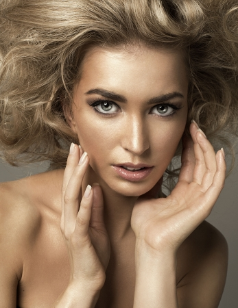 Blond beauty portrait photo