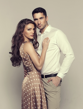 Attractive young couple photo