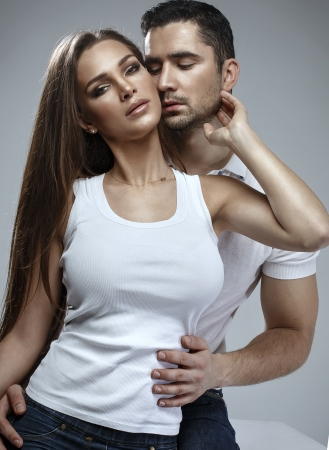 Beautiful sensual couple  photo