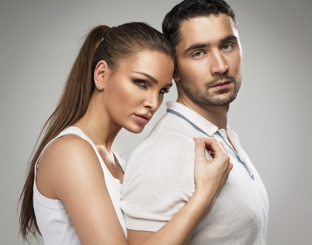 sexy couple embrace: Beautiful couple in love Stock Photo
