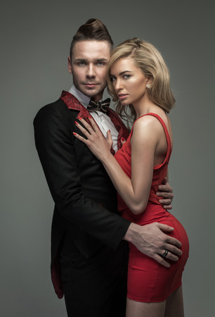 Beautiful couple posing photo