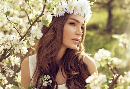 Portrait of sensual woman in the garden  photo