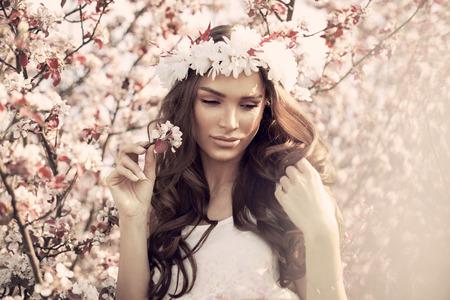 Fashion photo of young woman photo
