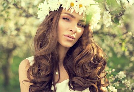 Beautiful young woman outdoor  photo