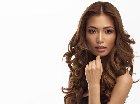 Portrait of young beautiful asian girl Stock Photo