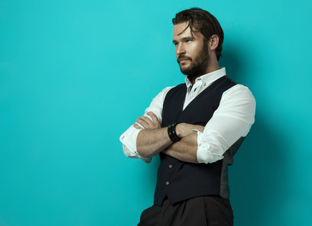 modelos hombres: Hombre guapo