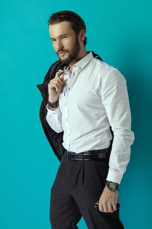 bel homme: Beau Banque d'images