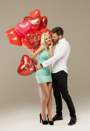 sexy kiss: Valentines photo of loving couple Stock Photo
