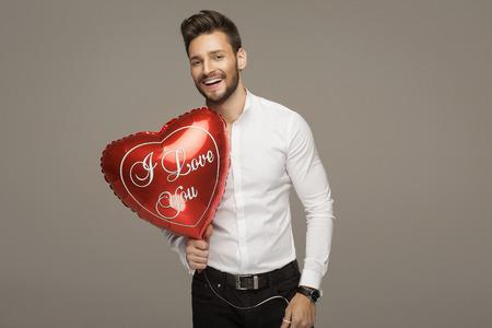 valentine's day: Handsome smiling man