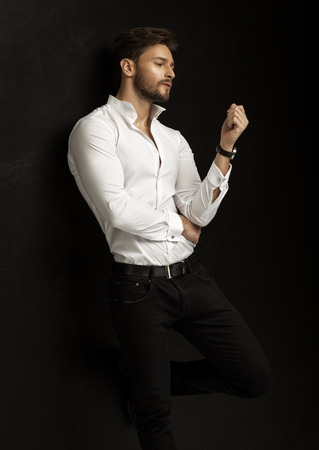 Handsome fashion man