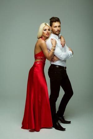 sexy kiss: Beautiful couple