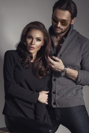 passion: Fashion couple posing