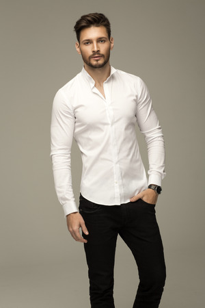 Portrait of handsome man photo