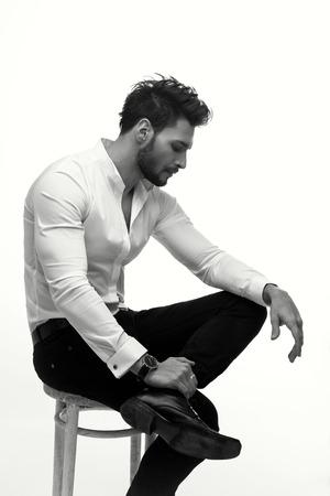 business model: Elegant fashion man