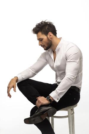 bonhomme blanc: El�gant homme de la mode