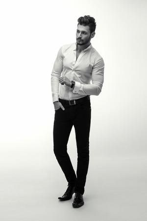 fashion portrait: Fashion man Stock Photo