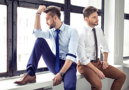 handsome men: Due sexy uomini belli Archivio Fotografico