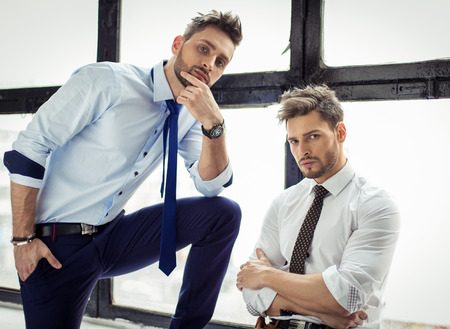 a pair of: Sexy men posing