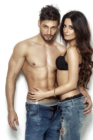 Sexy paar in ondergoed