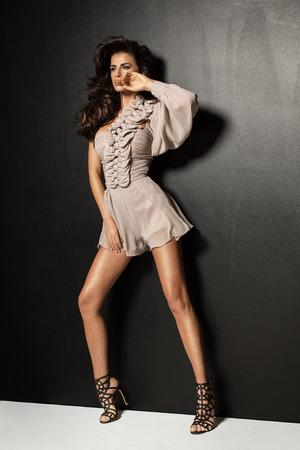 long legs: Fashion woman with long legs posing