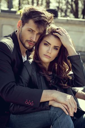 Portrait of fashionable couple Zdjęcie Seryjne