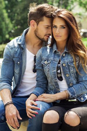 man style: beautiful couple