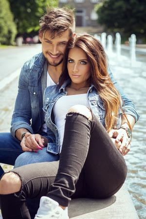 Attractive happy couple Zdjęcie Seryjne