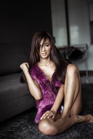 Beautiful unusual fashion woman