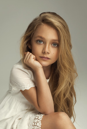 beautiful preteen girl: Fashion portrait of preety little girl