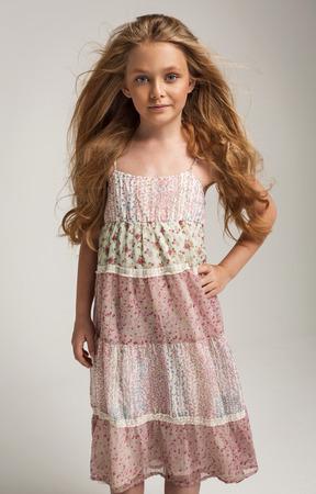 little girl posing: Pretty little girl posing Stock Photo