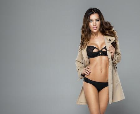 sexy nude women: Sexy model in lingerie