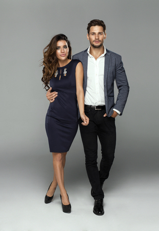 Fashionable couple posing