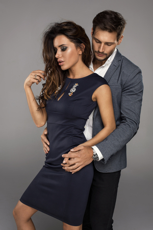 sensual: Sensual couple touching each other