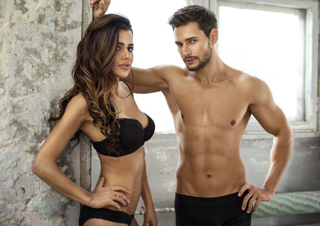 nude wife: Beautiful couple in underwear