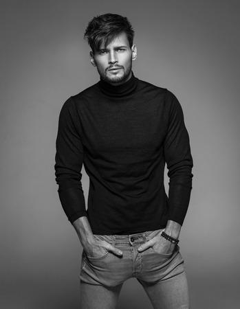fashion model: Portrait of handsome model