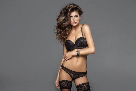 sex pose: Sexy Model Posing In Fashionable Lingerie
