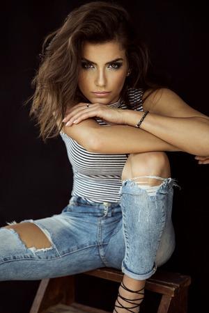 sensual woman: Beautiful female model