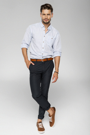 Handsome man posing 写真素材