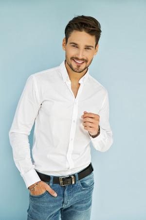 Sexy smiling business man Foto de archivo